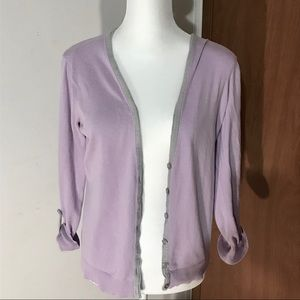New York & Company lilac button up cardigan